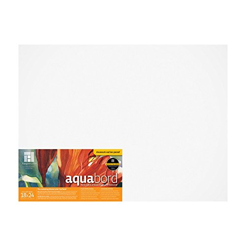 Ampersand Aquabord Panel for Watercolor and Gouache, 1/8 Inch Depth, 18X24 Inch (CBT18) by Ampersand