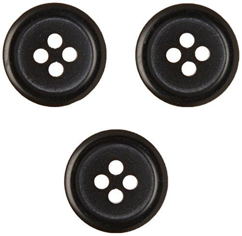 Slimline Buttons Series 1-Black 4-Hole 5/8 4/Card