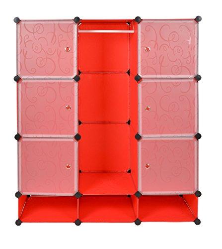ts ideen meuble de rangement tag re commode armoire v tements chaussures rouge salle de. Black Bedroom Furniture Sets. Home Design Ideas