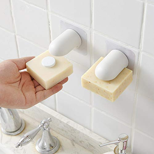 Hot Sale!DEESEE(TM)New Magnetic Soap Holder Strong Adhesion Wall Soap Dish -