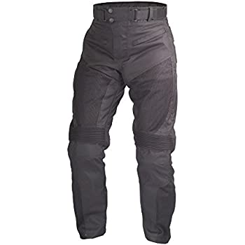 Motorcycle Sport Mesh Riding Pants Black with Removable CE Armor PT3 (M)