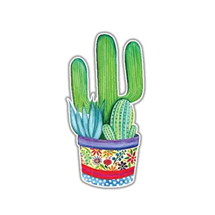 Cactus sticker succulent decal by megan j designs laptop window car vinyl sticker