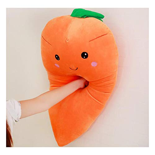 Dongcrystal 21.6 Inches Plush Carrot Pillows Stuffed Creative Vegetables Toys Smile (Stuffed Toy Pillow)