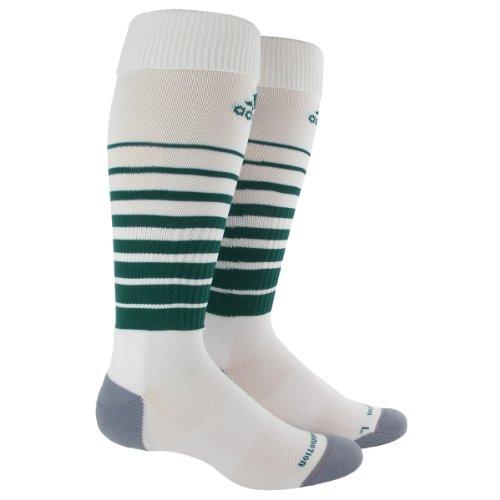 adidas Team Speed Soccer Socks (1-Pack), White/Forest, Small