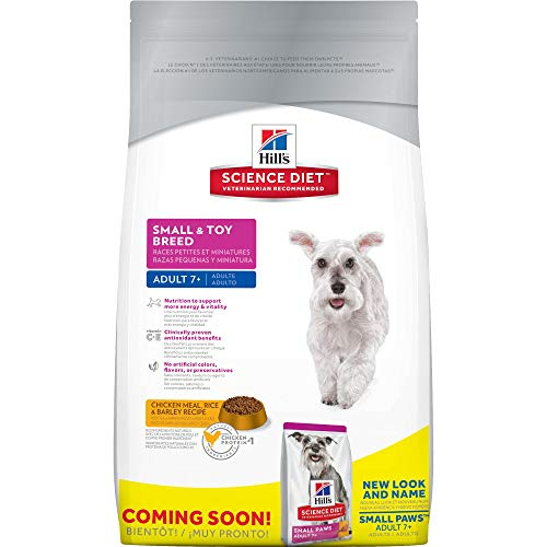 Hill'S Science Diet Senior Dog Food, Adult 7+ Small & Toy Breed Chicken Meal Rice & Barley Recipe Dry Dog Food, 4.5 Lb Bag