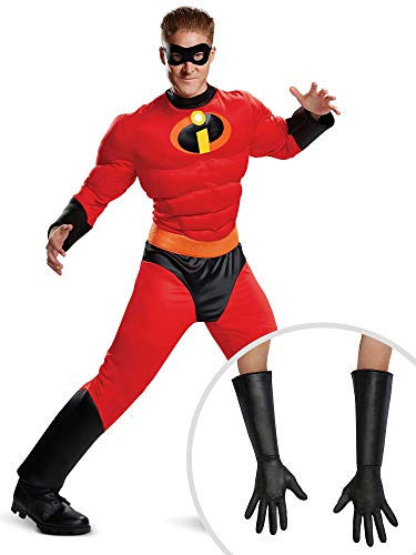 Mr Incredible Costume Kit Classic Adult Plus XXL with Gloves