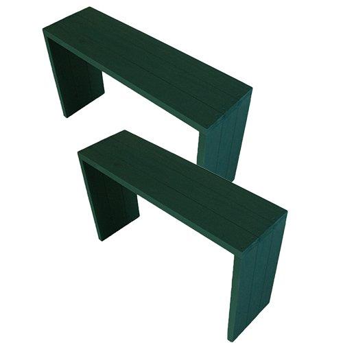 (2台セット)  ウッドステージ ワイド  (長さ90cm x 奥行き27cm x 高さ54cm, GGガーデングリーン) B079Z9SHJQ 長さ90cm x 奥行き27cm x 高さ54cm|GGガーデングリーン GGガーデングリーン 長さ90cm x 奥行き27cm x 高さ54cm