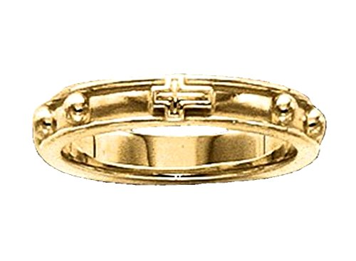 10k Yellow Gold Rosary Ring - 6