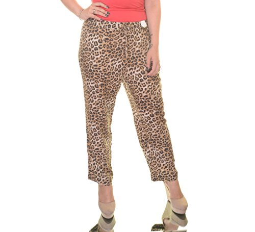 Charter Club Womens Plus Animal Print Classic Fit Ankle Pants Brown 2X