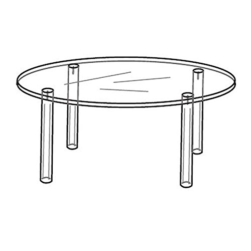 Acrylic Round Table For Counter Tops - 8''dia x 3''h