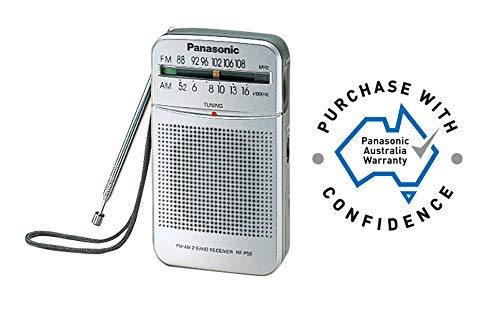 Panasonic RF-P50d Pocket AM/FM Radio Silver RF-P50D