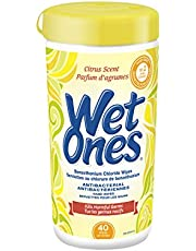 Wet Ones Antibacterial Hand Wipes, Citrus Scent, Wet Wipes, 40 Count Canister