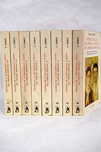Historia de la decadencia y ruina del imperio romano, 8 vols.: Amazon.es: Gibbon, Edward: Libros