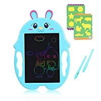 """HAHAone LCD Writing Tablet for KidsMagnetic Drawing Board Colorful Screen,LCD Doodle Board for Boys and Girls Toys Age 3 4 5 6 7 8 . Handwriting Pad 8.5"""" for Toddlers and Kids (Blue Rabbit)"""