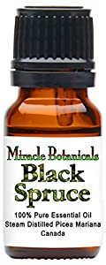 Miracle Botanicals Black Spruce Essential Oil - 100% Pure Picea Mariana - 10ml or 30ml Sizes - Therapeutic Grade