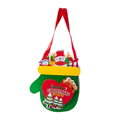 Willsa Cute Exquisite Merry Christmas Candy Bag Snack Packet Children Household Kid Garden Home Decor ()