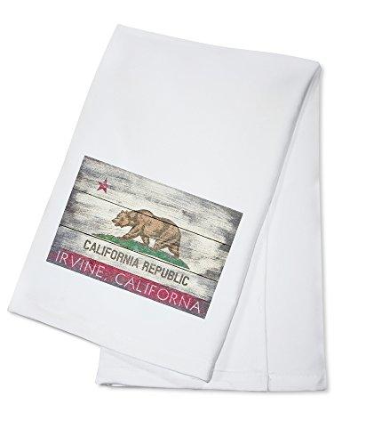 Irvine, California - Rustic California State Flag (100% Cotton Kitchen (Irvine Park Accessories)