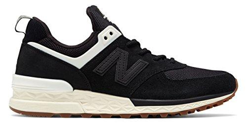 (ニューバランス) New Balance 靴?シューズ レディースライフスタイル 574 Sport Black with Angora ブラック US 7.5 (24.5cm)