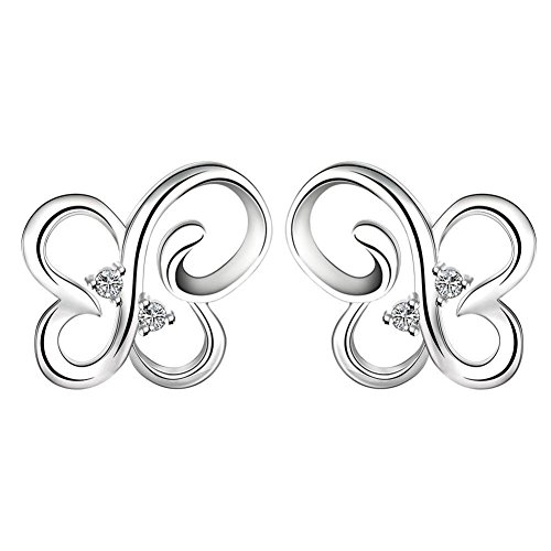 Fashion Simple Earrings Openwork Butterfly Stud Earrings Ladies Earrings