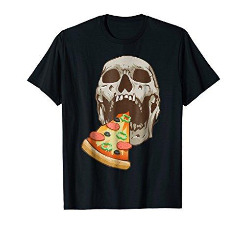 Halloween Skull Pizza Shirt Funny Costume Gift