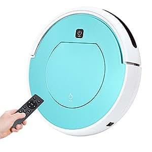 MIAO@LONG Inteligente Robot Aspirador Alta Succión Utilizar Control Remoto Controlar Sin Bolsa Robot De Limpieza, para Piso Seco Y Alfombras Delgadas: ...