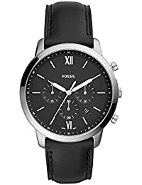 Men's 'Neutra Chrono' Quartz Stainless Steel and Leather Casual Watch, Color:Black (Model: FS5452)