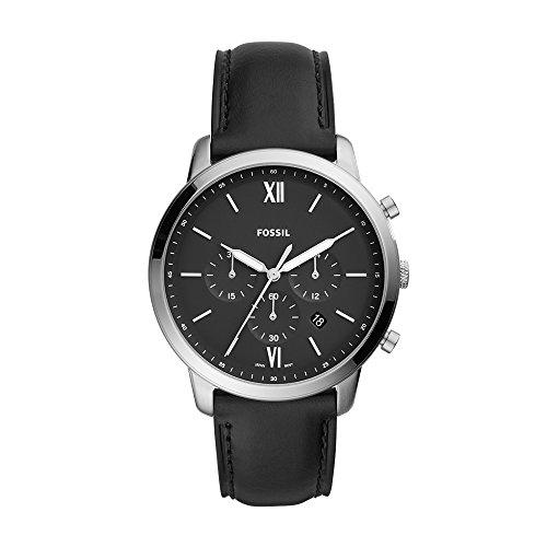 Fossil Men's FS5452 Neutra Chrono Analog Display Analog Quartz Black Watch (Fossil Black Chronograph)