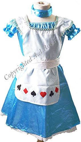 World Book Day/Shows Classic Alice in Wonderland Costume Set Perfect Fancy Dress - Two Sizes (Age -