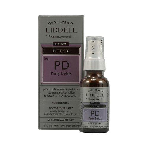 Liddell Homeopathic Detox Pd Party Detox, 1 Fluid Ounce (Liddell Homeopathic Detox)