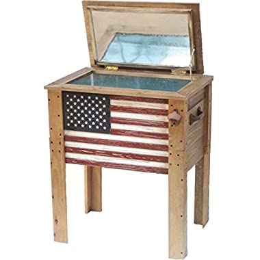 Backyard Expressions 909939 Cooler with Decorative Flag