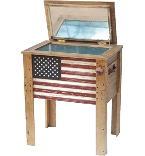 Backyard Expressions 909939 Cooler, Decorative with flag by Backyard Expressions
