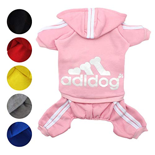 Zoyee Pet Clothes for Small Dogs Cats Puppy Hoodies Winter Sweetshirt Dog Outfits,Pink L]()