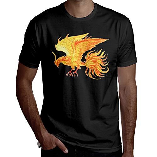 Thermal Mens Shirt Phoenix - Pretty Phoenix Crew Neck T Shirts Short Sleeve Cotton for Mens