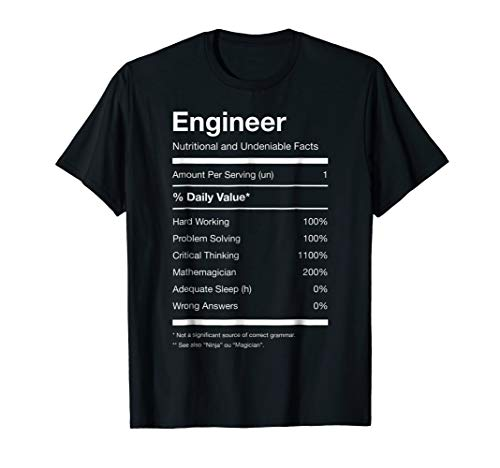 Caffeine Nutrition Facts - Engineer Nutrition Nutritional Facts Funny T-shirt