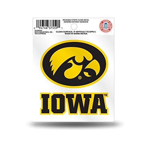 Rico Iowa Hawkeyes Logo Static Cling Car Decal ()