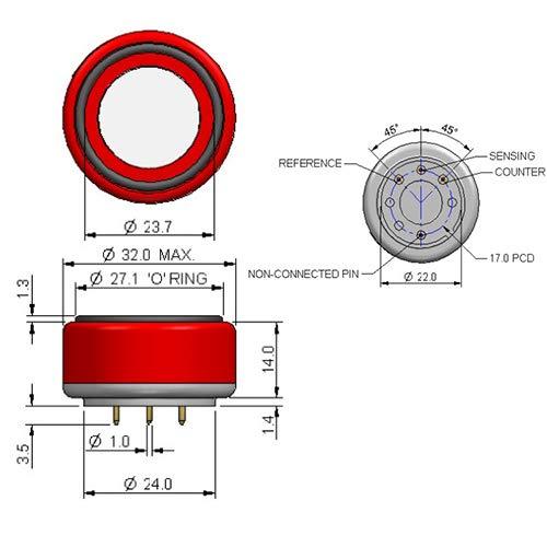 CITY Sensor AB710-40V 7E/FF 7E/F 7EFF CiTiceL Carbon Monoxide (CO) Gas Sensor by CITY (Image #1)