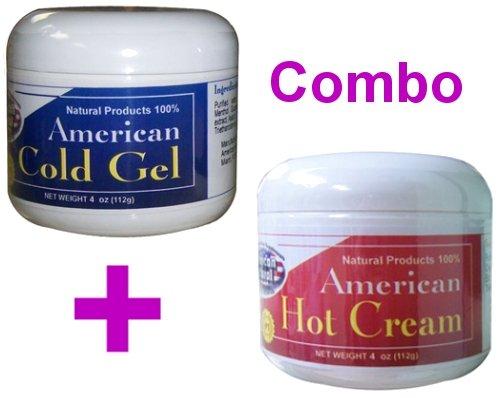 Crème américaine Natural Hot Combo + Gel Froid 2 x 4 oz Poids Perte