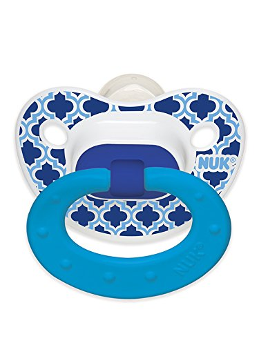 NUK Marrakesh and Whales Puller Pacifier, Colors and Pattern May Vary, 18-36 Months