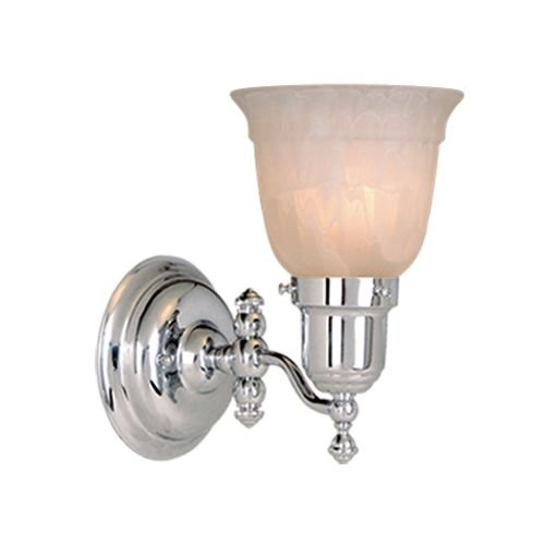 Vaxcel USA WL28961CH Swing Arm 1 Light Transitional Wall Sconce Lighting Fixture in Chrome, Glass