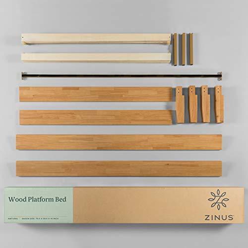 Zinus Moiz 14 Inch Wood Platform Bed No Box Spring