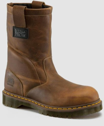 Dr. Martens Men's Icon 2295 Boot,Tan,8 UK/9 M US (Tan Toe Boot Safety)