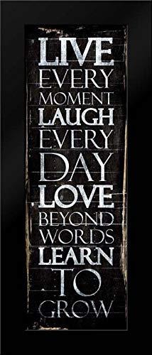 Live Laugh Love Learn Framed Art Print by Villa, Mlli (Live Laugh Love Learn)