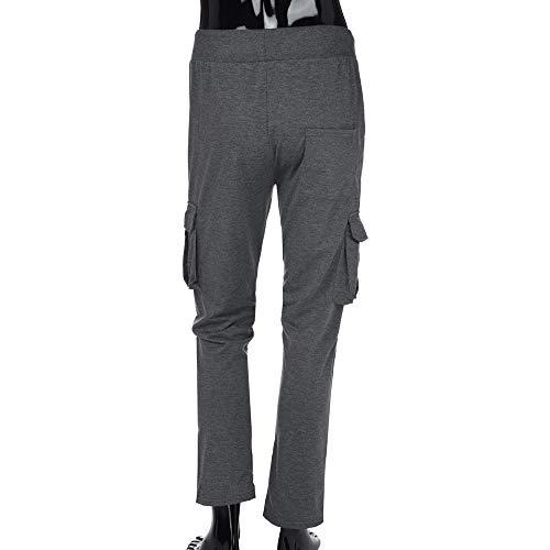 Casual Puro De es Trabajo De para Hombre Deportivo Oscuro De Gris De es Color Pantalón De ALIKEEY Chándal Bolsillo Casual 5fWwqxZX84