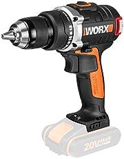 WORX 20V Brushless Drill Driver 60Nm, Bare Tool, Multi Color