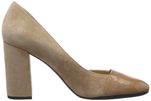 Geox D Audalies High C, Zapatos de Tacón para Mujer Beige (DK SKINC8191)