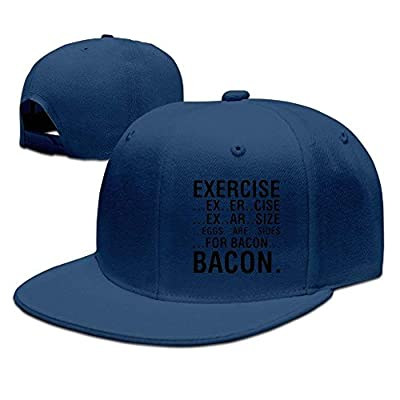 roylery Men&Women Exercise Eggs are Sides for Bacon Cool Basketball Natural Hat Adjustable Snapback