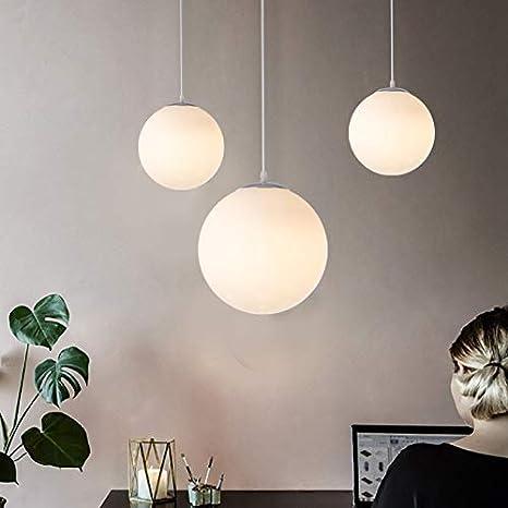 Lampadario con sfera di vetro, Lampada a sospensione, Lampada interna  singola per Camera da letto, Soggiorno, Corridoio, Ristorante, Bar 1pcs  (15CM)