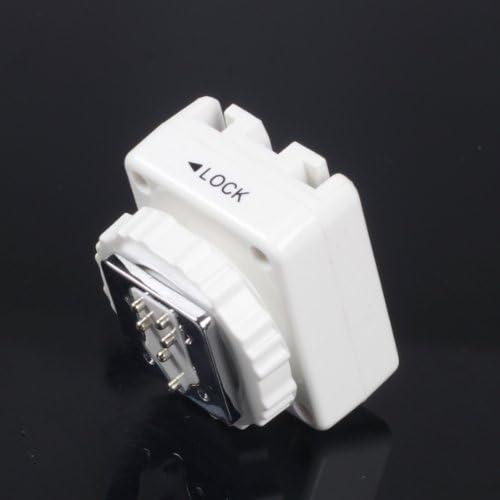 Mcoplus - weiß Blitzadapter für Sony/Minolta-Blitze auf Mittenkontakt-Blitzschuh (ISO) mit PC-Sync-Anschluss // Blitzschuh-Konverter, Adapter für Sony Sony HLV F58AM F42AM F56AM F36AM Minolta 3600 5600HS as FS-1200