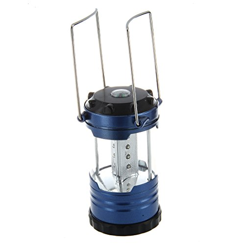 lumiere de Camping - SODIAL(R) 12 LEDs Portable Lanterne lampe lumiere de Camping camp avec Boussole-Bleu