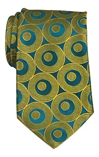 Ferrell Reed Neon Green Geometric Textured Tie